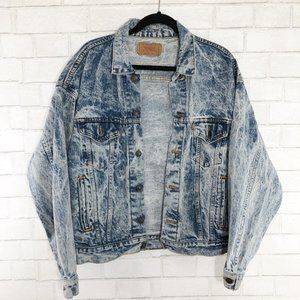 Levi's 1980's Vintage Acid Wash Jean Jacket Large